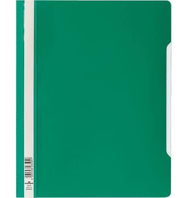 Schnellhefter A4 grün transparenter Vorderdeckel kaufmännische Heftung