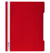 Schnellhefter A4 rot transparenter Vorderdeckel kaufmännische Heftung