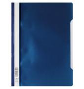 Schnellhefter 2573 A4 PP-Folie blau transparenter Vorderdeckel kaufmännische Heftung