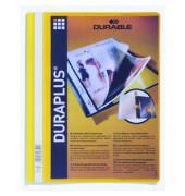 Schnellhefter Duraplus A4+ überbreit gelb PVC Kunststoff kaufmännische Heftung bis 200 Blatt