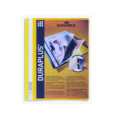 Schnellhefter DURAPLUS A4 gelb Hartfolie kaufmännische Heftung überbreit