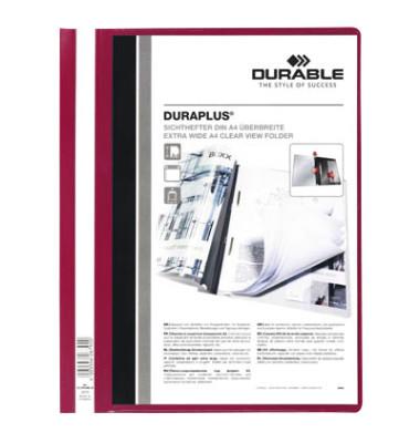 Schnellhefter Duraplus A4+ überbreit rot PVC Kunststoff kaufmännische Heftung bis 200 Blatt