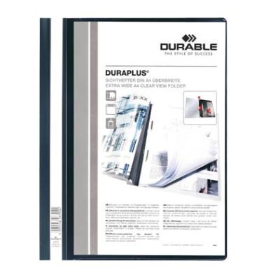 Schnellhefter Duraplus A4+ überbreit schwarz PVC Kunststoff kaufmännische Heftung bis 200 Blatt