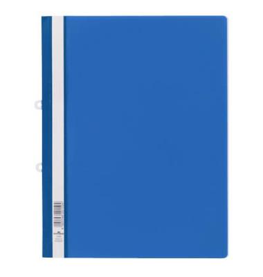 Hängehefter Schnellhefter 2580 A4 blau Hartfolie kaufmännische Heftung transparenter Vorderdeckel