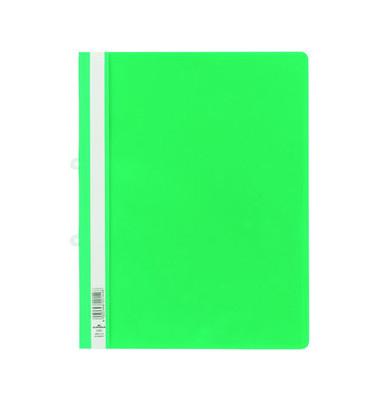 Hängehefter Schnellhefter A4 grün Hartfolie transparenter Vorderdeckel