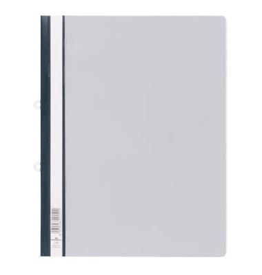 Hängehefter Schnellhefter 2580 A4 grau Hartfolie kaufmännische Heftung transparenter Vorderdeckel