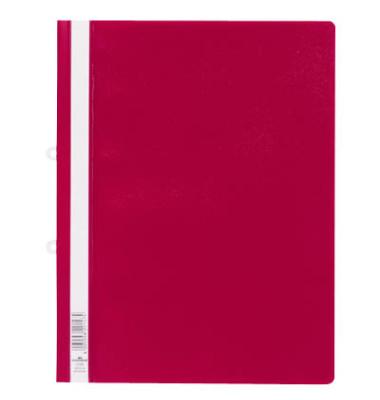 Schnellhefter 2580 A4+ überbreit rot PVC Kunststoff kaufmännische Heftung bis 200 Blatt mit Abheftlochung