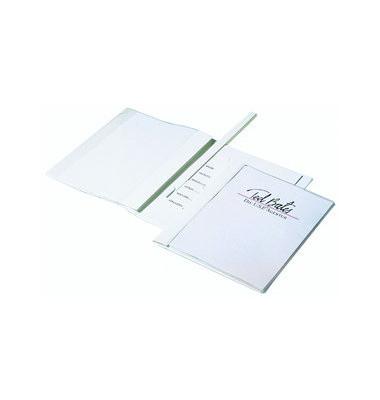 Schnellhefter Duraplus de Luxe 2589 A4+ überbreit weiß PVC Kunststoff kaufmännische Heftung bis 100 Blatt mit Abheftlochung