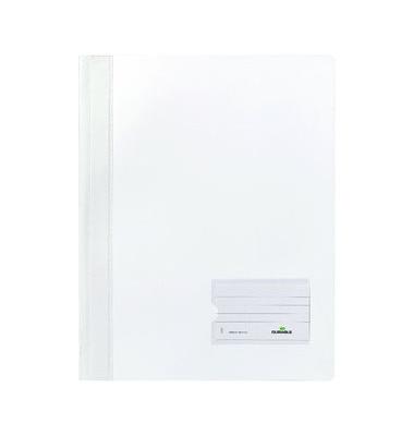 Schnellhefter Duralux 2680 A4+ überbreit weiß PVC Kunststoff kaufmännische Heftung bis 150 Blatt