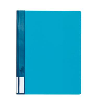 Schnellhefter Duralux 2681 A4+ überbreit blau PVC Kunststoff kaufmännische Heftung bis 200 Blatt