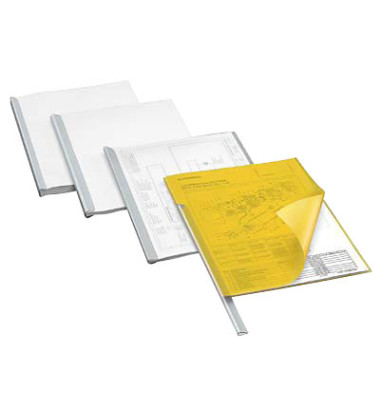 Kunststoff Klemmschienen A4 80 Blatt transparent