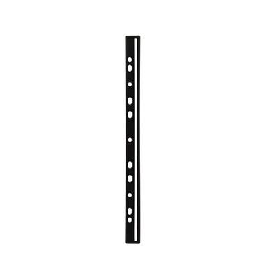 Abheftschienen 2935-01, einsteckbar, Kunststoff, schwarz, 50 Stück