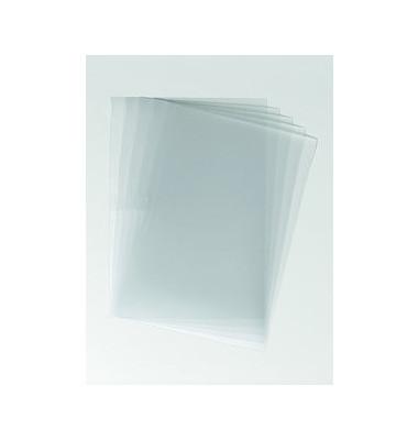 Einbanddeckel f. Klemmschienen farblos A4 100 St