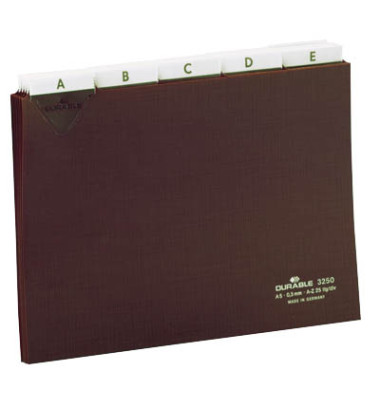 Leitregister blanko 5/5-Teilung A5-quer 25 Blatt braun