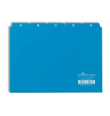 Leitregister A-Z 25-tlg. blau A5 quer Plastik