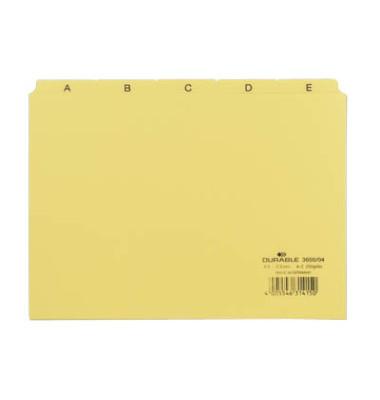 Leitregister Kunststoff A-Z A5-quer gelb 25-teilig