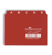 Leitregister Kunststoff A-Z A7-quer rot 25-teilig