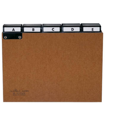 Leitregister Presspann A-Z A5-quer braun 25-teilig