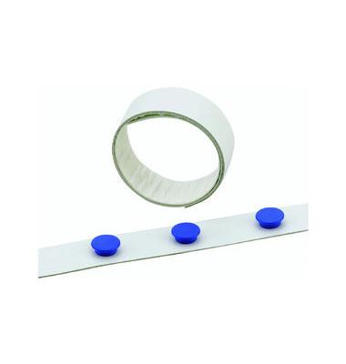 Magnetband für Haftmagnete weiß 35mm x 5m selbstklebend Metall