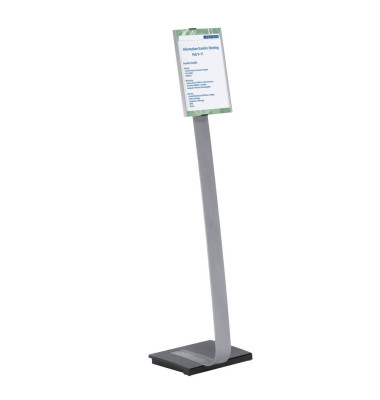 Bodenaufsteller A4 INFO SIGN STAND Silber 4812