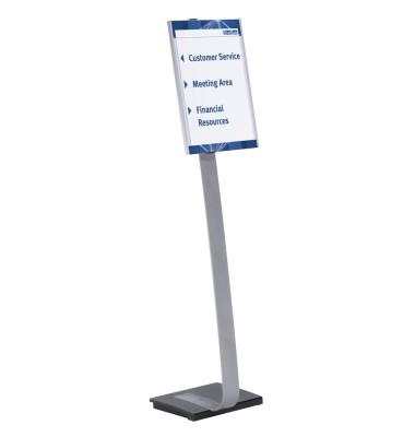Bodenaufsteller INFO SIGN STAND silber A3 höhenverstellbar bis 125cm