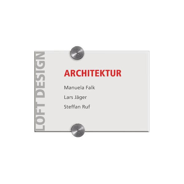 durable t rschild crystal sign transparent 210 x 148mm. Black Bedroom Furniture Sets. Home Design Ideas