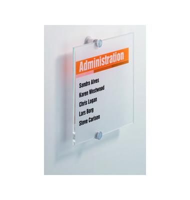 Türschild Crystal Sign transparent 210 x 210mm