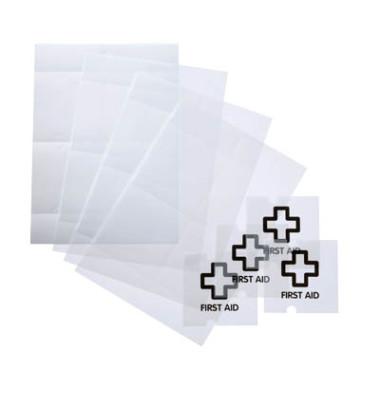 Ersatzfolie für Türschild 4820 farblos 105x105mm 10 Stück