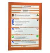 Infotasche Magaframe A4 orange 2 Stück