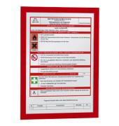 Infotasche Magaframe A4 rot 2 Stück