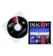 CD/DVD-Hüllen für 2 CD/DVD transparent PP 10 Stück