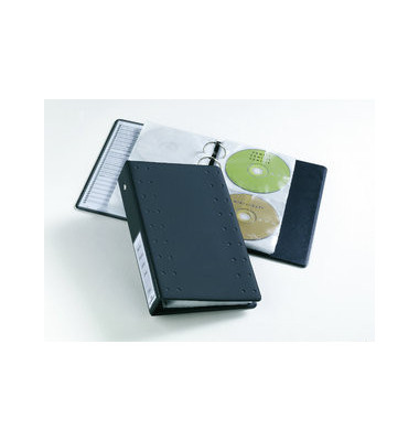 CD-Ringbuch INDEX 20 A5 anthrazit 185x55x273mm für 20 CDs