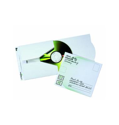 CD/DVD-Versandtasche weiß 5 Stück