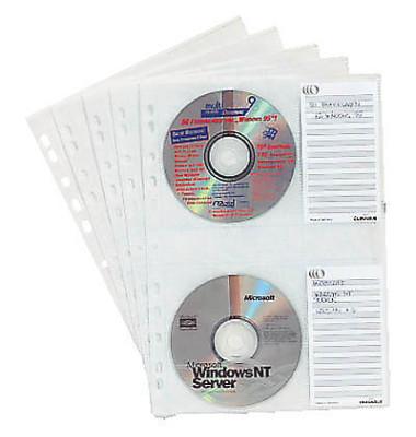 5522 CD/DVD- Prospekt - Hüllen Cover M für 4 CD/DVD 5 Stück