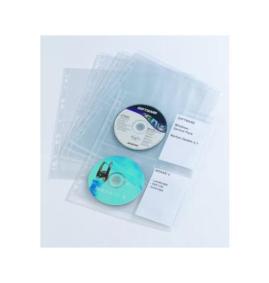 CD/DVD-Hüllen CoverLight M A4 für 4 CD/DVD transparent Universallochung PP 10 Stück