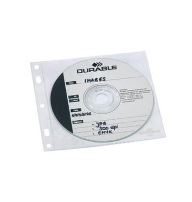 CD/DVD-Hüllen CoverFile für 1 CD/DVD transparent zum Abheften PP 10 Stück