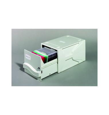 Multimediabox I für CD/DVD und Disketten grau