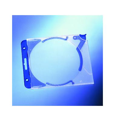CD/DVD-Hüllen QuickflipComplete für 1 CD/DVD blau/transparent 5 Stück