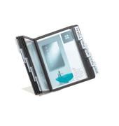 Sichttafelständer VARIO A5 schwarz mit 10 Tafeln/Reiter