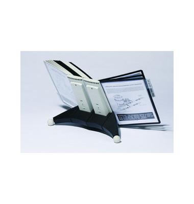 Sichttafelständer SHERPA Table A4 grau/schwarz mit 20 Tafeln/Reiter
