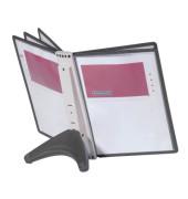 Sichttafelständer SHERPA SOHO Table A4 schwarz mit 5 Sichttafeln