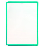 Sichttafel SHERPA A4 grüner Rahmen