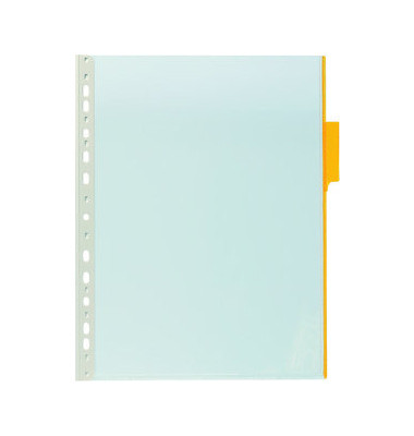 Sichttafel FUNCTION A4 Tabe gelb mit Universallochung