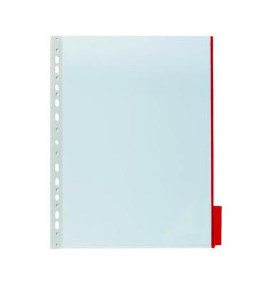 Sichttafel FUNCTION A4 Tabe rot mit Universallochung