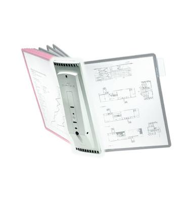 Sichttafelwandhalter SHERPA für A4 10 Tafeln leer grau