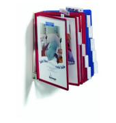 Sichttafelwandhalter FUNCTION für A4 10 Tafeln leer grau