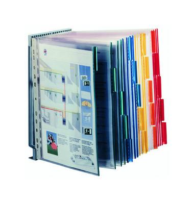 Sichttafelwandhalter FUNCTION für A4 20 Tafeln leer grau