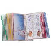 Sichttafelständer FUNCTION A4 sortiert mit 20 Tafeln + angeschweißtem Tab