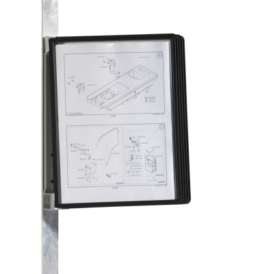 Wandhalter Vario Magnet Wall 5 schwarz f.A4 m.5 Ta.