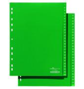Kunststoffregister 6157-05 1-26 / 27-52 A4 grüne Taben 2x 26-teilig